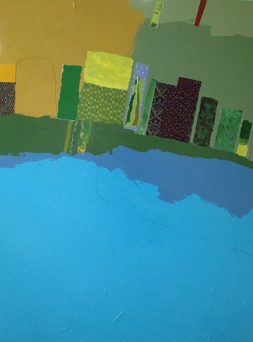 Tom Hlas Fields of Green 48x36 mixed media on canvas